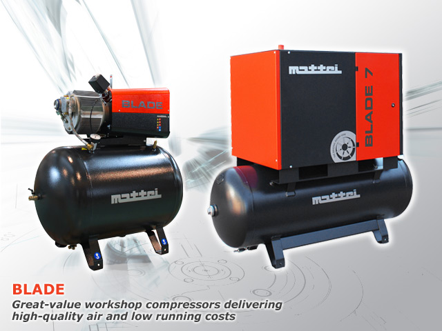 Workshop air compressors | Mattei UNICA and BLADE