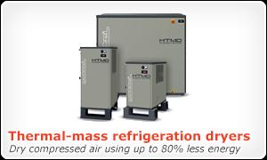 Thermal-mass refrigeration dryers